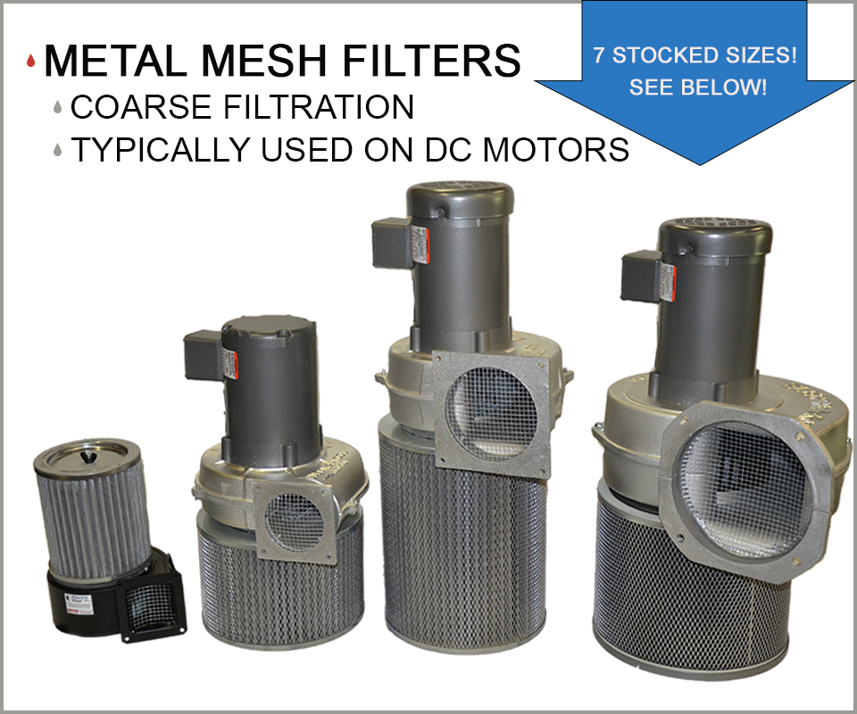 centrifugal blowers with metal mesh filters